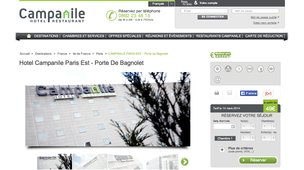 Hotel autoroute a3 paris bagnolet annuaire paris bagnolet for Liste des hotels a paris